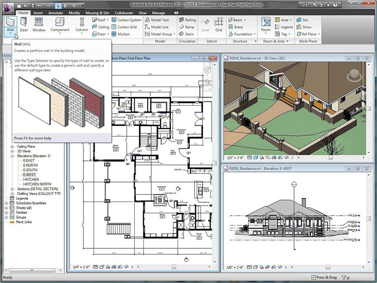 Learn revit bim software how to import autocad files in for Free online architectural drawing program