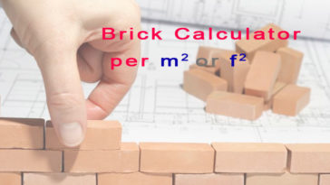 Brick Calculator - Bricks Per Square Meter or Bricks Per Square Feet